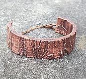 Náramky - Pokovaná kôra stromu*náramok - 10843396_
