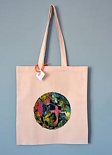 Iné tašky - Plátená taška, kolibrík - 10844274_
