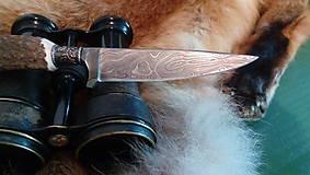 Nože - Damaskový lovecký nôž - 10844332_