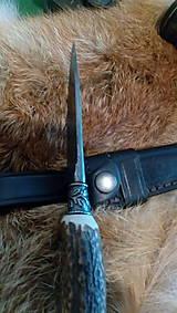 Nože - Damaskový lovecký nôž - 10844334_
