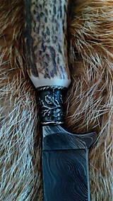 Nože - Damaskový lovecký nôž - 10844338_