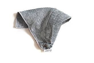 Detské čiapky - Šatka proti slnku 100% ľan sivá exclusive - 10846212_
