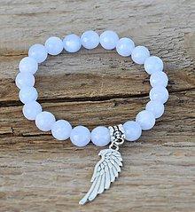 Náramky - náramok - chalcedón, anjelské krídlo - 10845659_