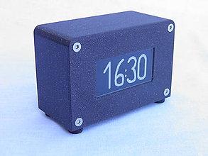 Hodiny - Agora clock - čierne - 10845232_