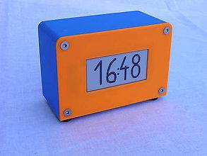 Hodiny - Agora clock - oranžové/modré - 10845273_
