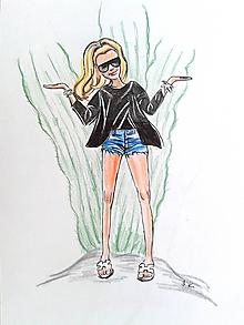 Kresby - Postavička - kresba na želanie - 10843778_