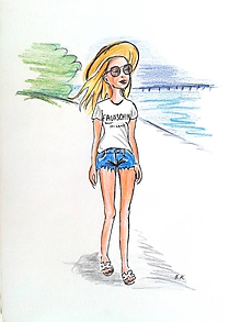 Kresby - Postavička - kresba na želanie - 10843803_