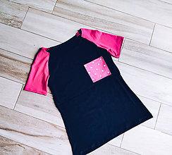 Tričká - Kojo tričká SKLADOM (Čierne s guličkami na vrecku) - 10843932_