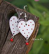 Heart dots // white/red