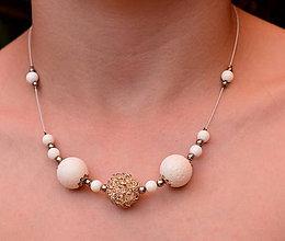 Náhrdelníky - Letní bílý korál - 10844157_