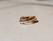 Prstene - Prstienok spletený so srdiečkom - 10848150_