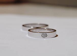 """Prstene - Obrúčky """"moje srdiečko"""" aurum ploché - 10848227_"""