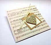 Papiernictvo - Pohľadnica ... na ♥ mi hraj - 10847133_