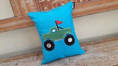 Textil - vankúšik- spinkáčik - terénne auto - 10849107_