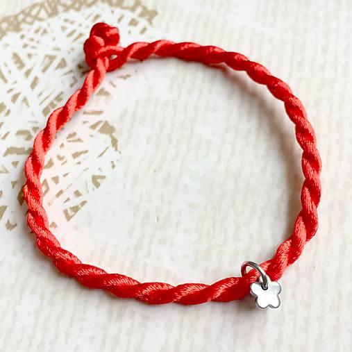 06978de4c Lucky Red Bracelet / Náramok proti urieknutiu, chir. oceľ (Kvet ...