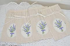 Úžitkový textil - Béžové pásikové vrecúška - 10847481_