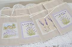Úžitkový textil - Mini vrecúška Provence - 10847488_