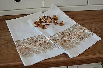 Úžitkový textil - Ľanové paličkované vrecúška - 10847426_