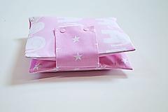 Detské doplnky - Obal na plienky ružový so sloníkmi - 10846798_