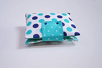 Detské doplnky - Obal na plienky modro-tyrkysový - 10846534_