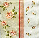 - S713 - Servítky - ruža, ružička, roses, vintage, shabby chic - 10846814_