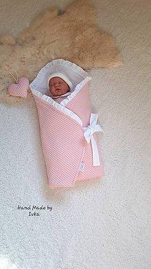 Textil - Zavinovačka s krajkou  :  ružová vafle bavlna/ 100% bavlna - 10846484_