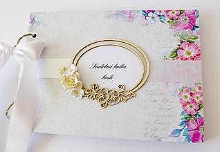Papiernictvo - svadobná kniha hostí - 10846559_