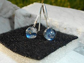 Náušnice - earrings little with moonstones-in silver - 10848775_