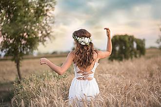Ozdoby do vlasov - Kvetinový venček s eukalyptom - 10849168_