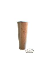Nábytková noha kónická 12cm, buk (bez uchytenia)
