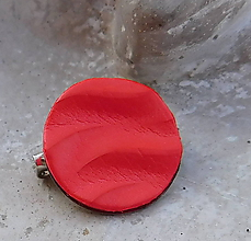 Odznaky/Brošne - brošnička vlnka červená - 10847227_