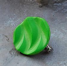 Odznaky/Brošne - brošnička vlnka zelená - 10848367_