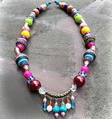 Náhrdelníky - Nežná Gvendolína- maľovaný náhrdelník - 10848656_
