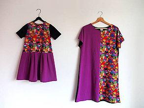 Šaty - Šaty z úpletu pre malú a veľkú, mačky - 10846613_