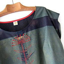 Šaty - BYLINA - šaty modrotiskové - 10846639_