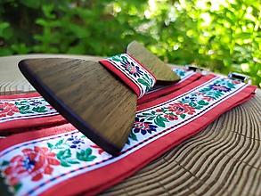 Doplnky - Pánsky drevený motýlik a traky - 10848414_