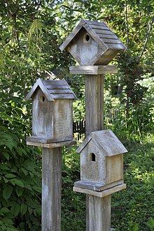 Dekorácie - Vtáčie búdky - vetrom ošľahané - 10848911_