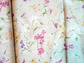 "Textil - Dekoračná látka ""letná lúka"" - 10848487_"