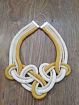 Náhrdelníky - Viazaný náhrdelník - IV.  (Žltá) - 10846464_