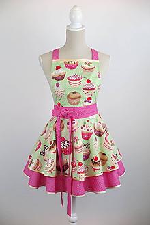 Iné oblečenie - LUXUSNÁ KUCHYNSKÁ ZÁSTERA  LOVELY CUPCAKE - 10848739_