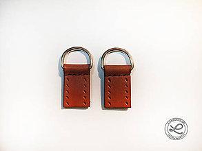 Iný materiál - Kožené pútka na kabelku s D-krúžkom na prišitie - 10848647_