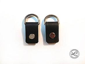 Iný materiál - Kožené pútka na kabelku s D-krúžkom na skrutkovacie nity - 10848670_