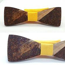 Doplnky - Kávovo-živicový motýlik Chenya - 10846554_