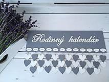 Dekorácie - Rodinný kalendár - 10846481_