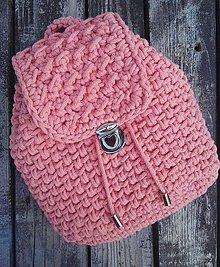 Batohy - Háčkovaný ruksak broskyňový - 10849046_