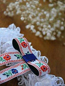 Bielizeň/Plavky - Svadobný podväzok - FOLK - 10846853_