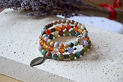 Náramky - náramok, minerály, mix, tri náramky - 10846877_
