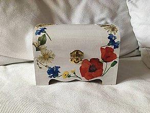 Krabičky - Svadobná truhlica - lúčne kvety - 10846992_