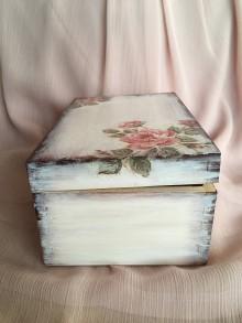 Krabičky - Drevená truhlička - ruže - 10847038_