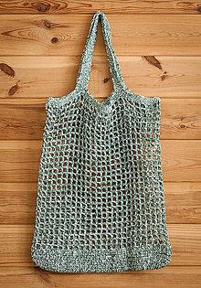 Nákupné tašky - Sieťovka strakatá zelená - 10846375_